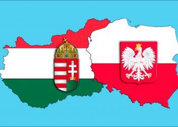 Le bandiere della Polonia e dell'Ungheria